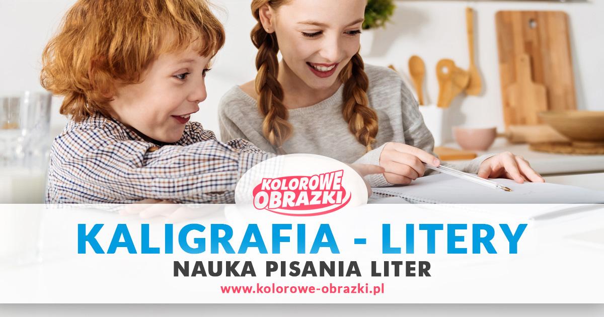 Kaligrafia Litery - Nauka pisania liter dla dzieci