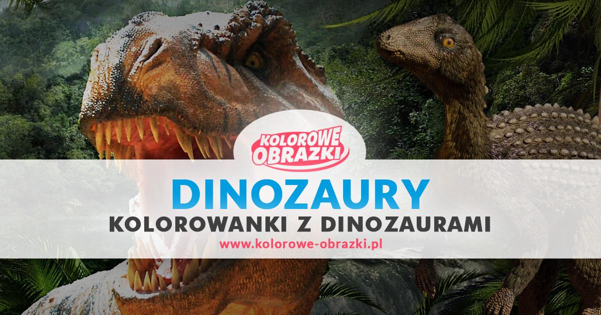 Kolorowanki dinozaury / Kolorowanki z dinozaurami | Kolorowe Obrazki