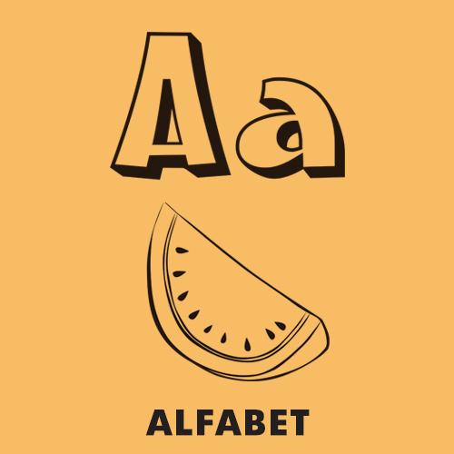 Kolorowanki dla dzieci - Alfabet, litery, literki