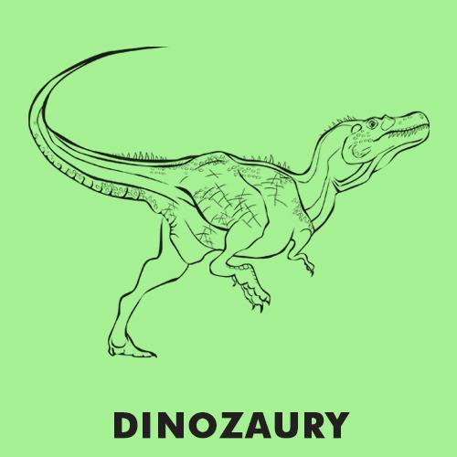 Kolorowanki dla dzieci zwierzęta / Dinozaury