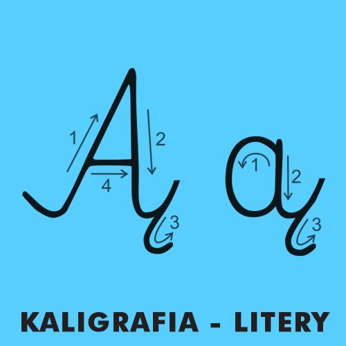 Kolorowanki dla dzieci - Kaligrafia litery