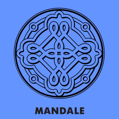 Kolorowanki dla dzieci - Mandale