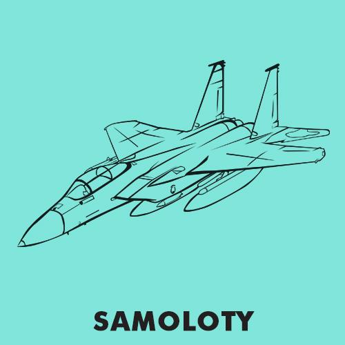 Kolorowanki dla dzieci - Samoloty