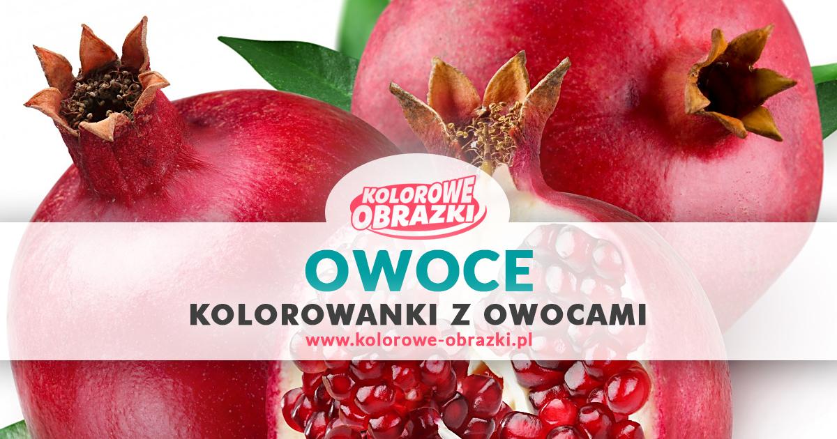 Kolorowanki owoce - www.kolorowe-obrazki.pl