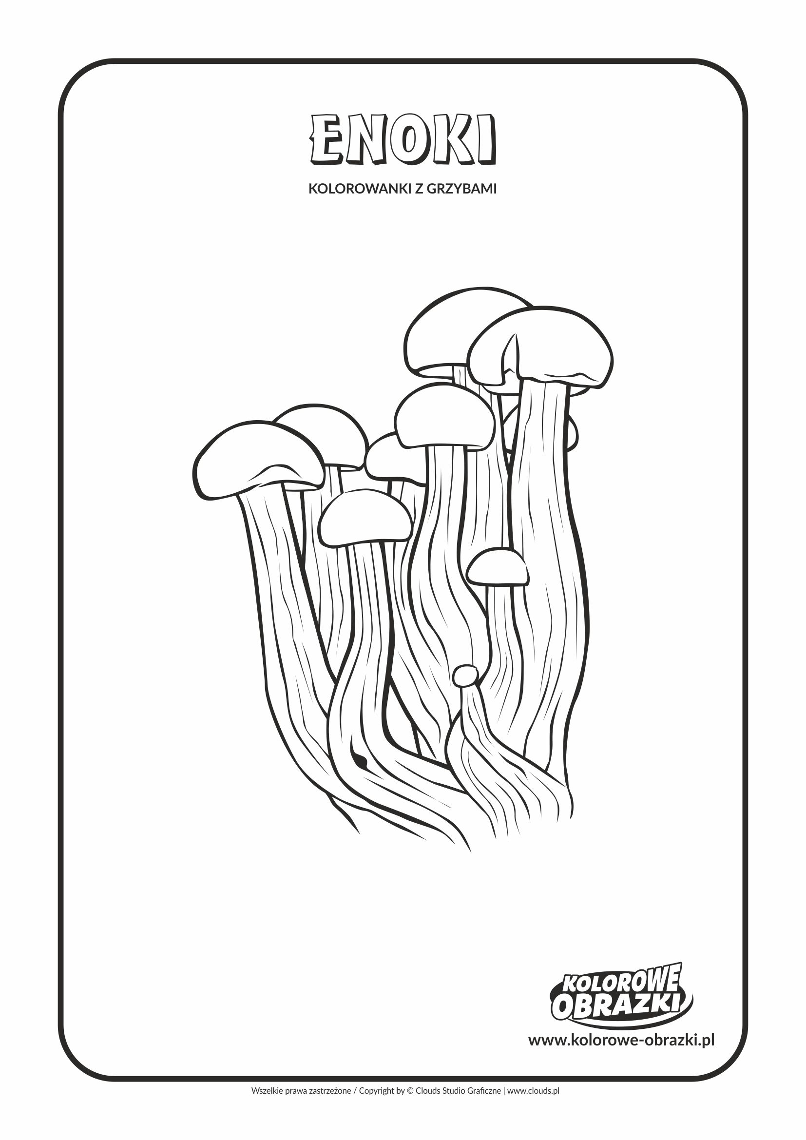 Kolorowanki dla dzieci - Rośliny / Enoki. Kolorowanka z enoki