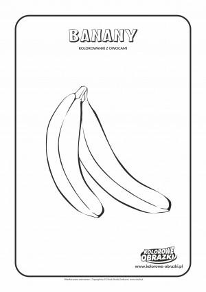 Kolorowanki dla dzieci - Rośliny / Banany. Kolorowanka z bananami