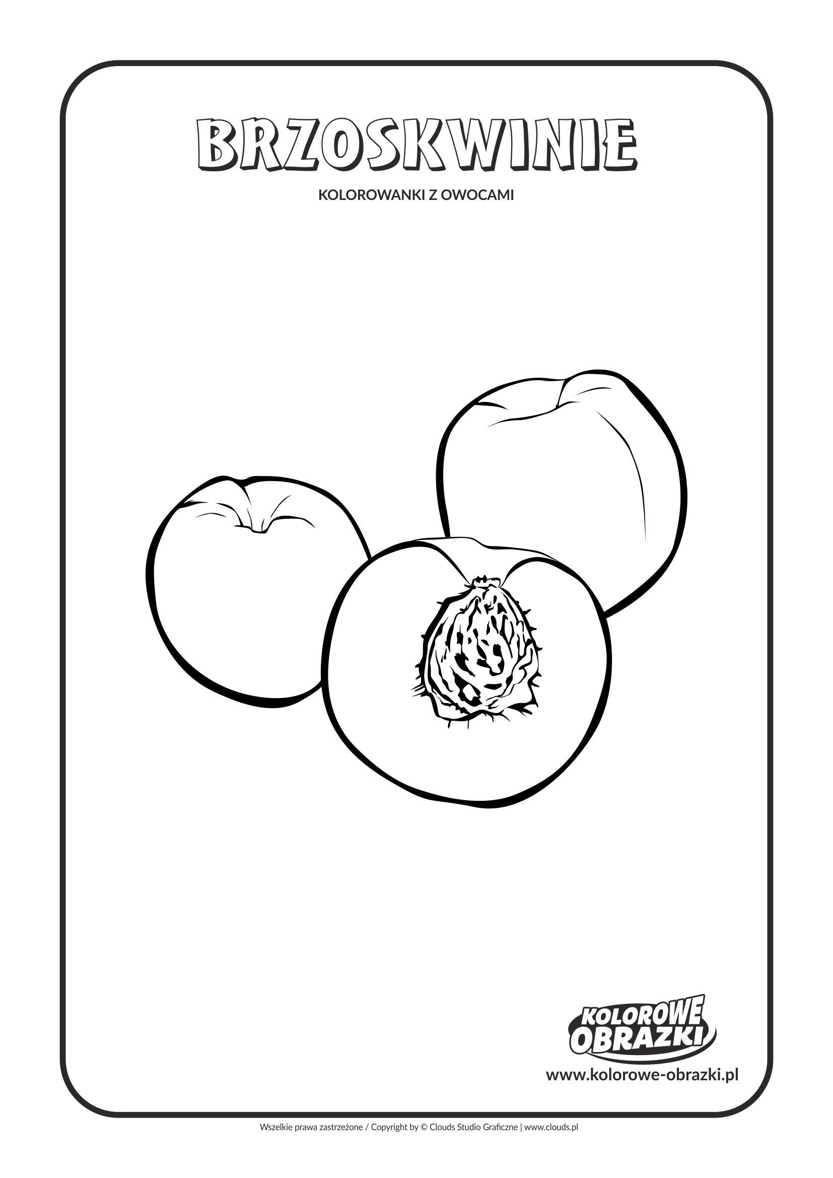 Kolorowanki dla dzieci - Rośliny / Brzoskwinie. Kolorowanka z brzoskwiniami