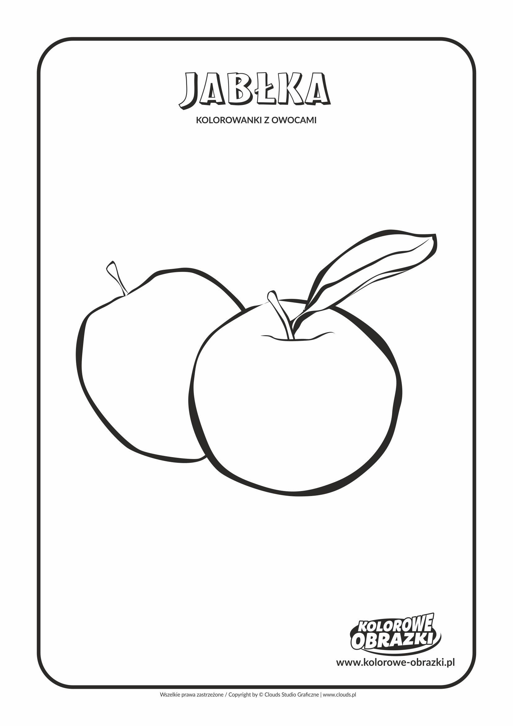 Kolorowanki dla dzieci - Rośliny / Jabłka. Kolorowanka z jabłkami