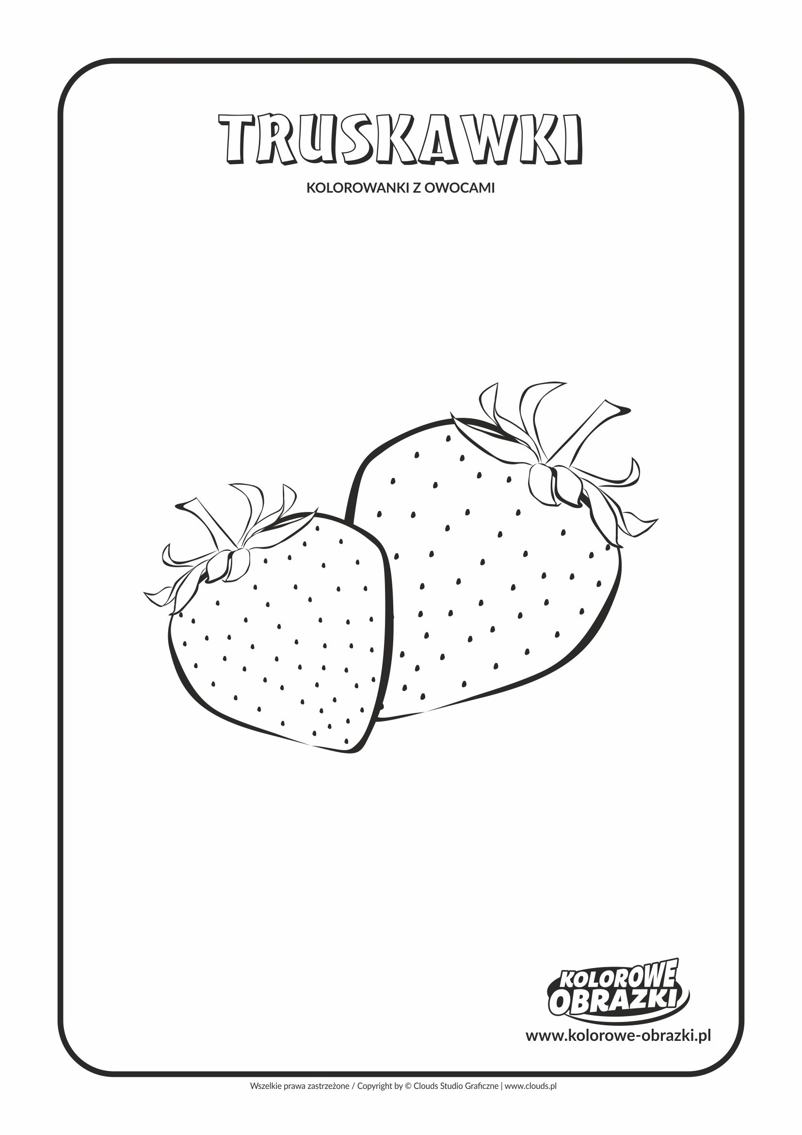 Kolorowanki dla dzieci - Rośliny / Truskawki. Kolorowanka z truskawkami
