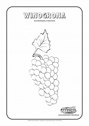 Kolorowanki dla dzieci - Rośliny / Winogrona. Kolorowanka z winogronami