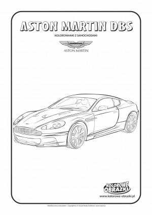 Kolorowanki dla dzieci - Pojazdy / Aston Martin DBS. Kolorowanka z Astonem Martinem DBS