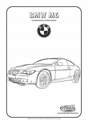 Kolorowanki dla dzieci - Pojazdy / BMW M6. Kolorowanka z BMW M6