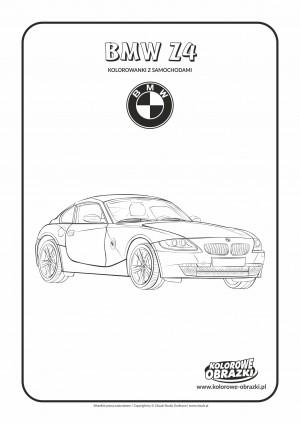 Kolorowanki dla dzieci - Pojazdy / BMW Z4. Kolorowanka z BMW Z4