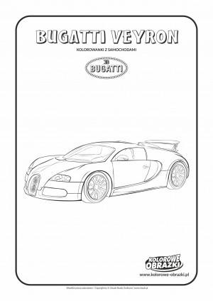 Kolorowanki dla dzieci - Pojazdy / Bugatti Veyron. Kolorowanka z Bugatti Veyron