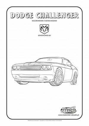 Kolorowanki dla dzieci - Pojazdy / Dodge Challenger. Kolorowanka z Dodgem Challenger