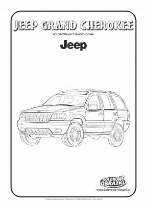Kolorowanki dla dzieci - Pojazdy / Jeep Grand Cherokee. Kolorowanka z Jeep Grand Cherokee