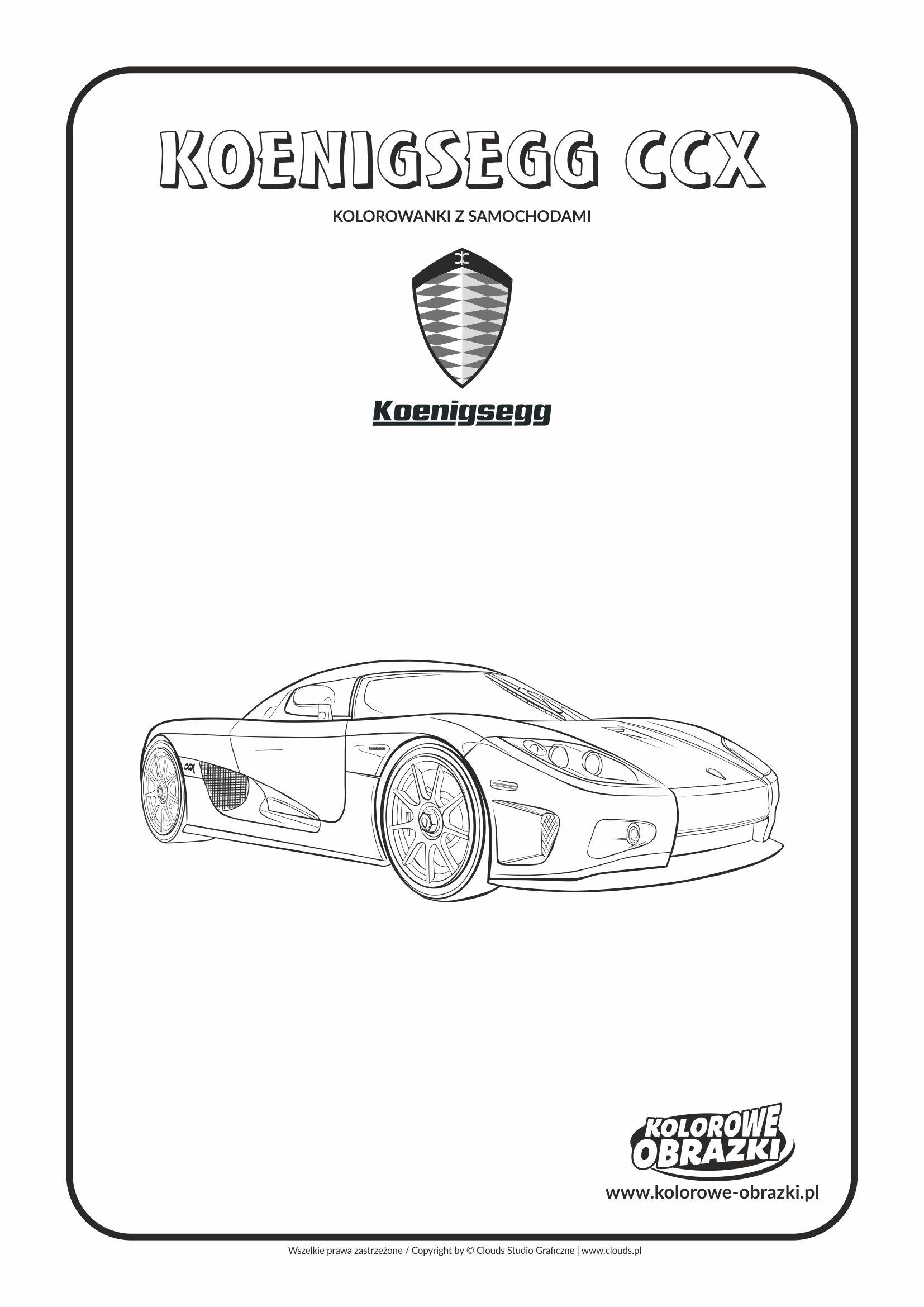Kolorowanki dla dzieci - Pojazdy / Koenigsegg CCX. Kolorowanka z Koenigsegg CCX