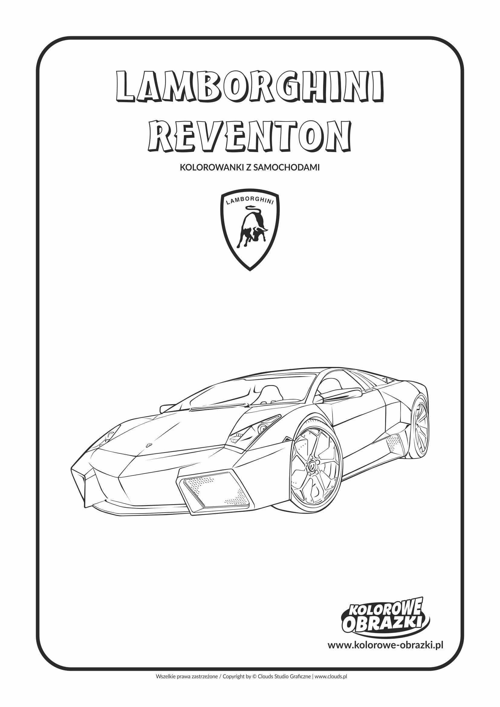 Kolorowanki dla dzieci - Pojazdy / Lamborghini Reventon. Kolorowanka z Lamborghini Reventon