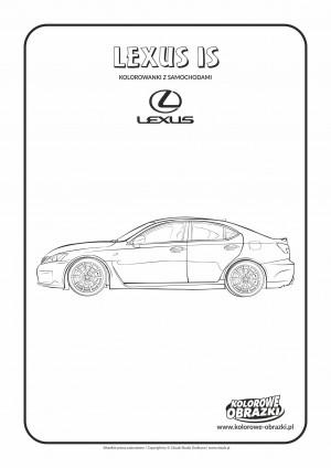 Kolorowanki dla dzieci - Pojazdy / Lexus IS. Kolorowanka z Lexus IS