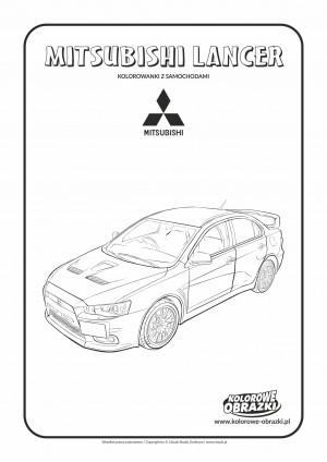 Kolorowanki dla dzieci - Pojazdy / Mitsubishi Lancer. Kolorowanka z Mitsubishi Lancerem