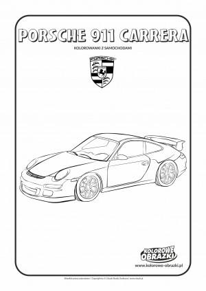 Kolorowanki dla dzieci - Pojazdy / Porsche 911 Carrera. Kolorowanka z Porsche 911 Carrera