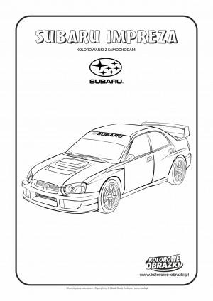 Kolorowanki dla dzieci - Pojazdy / Subaru Impreza. Kolorowanka z Subaru Impreza