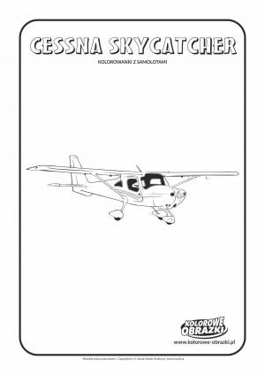 Kolorowanki dla dzieci - Pojazdy / Cessna Skycatcher. Kolorowanka z Cessna Skycatcher