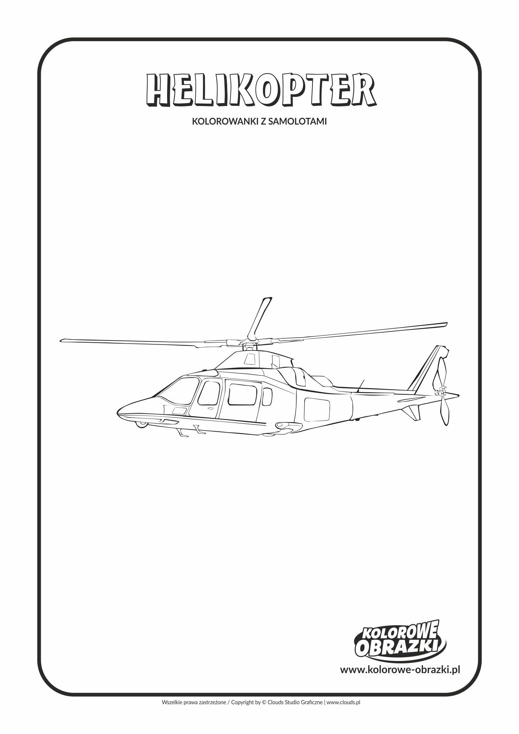 Kolorowanki dla dzieci - Pojazdy / Helikopter. Kolorowanka z helikopterem