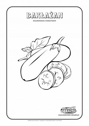 Kolorowanki dla dzieci - Rośliny / Bakłażany. Kolorowanka z bakłażanami