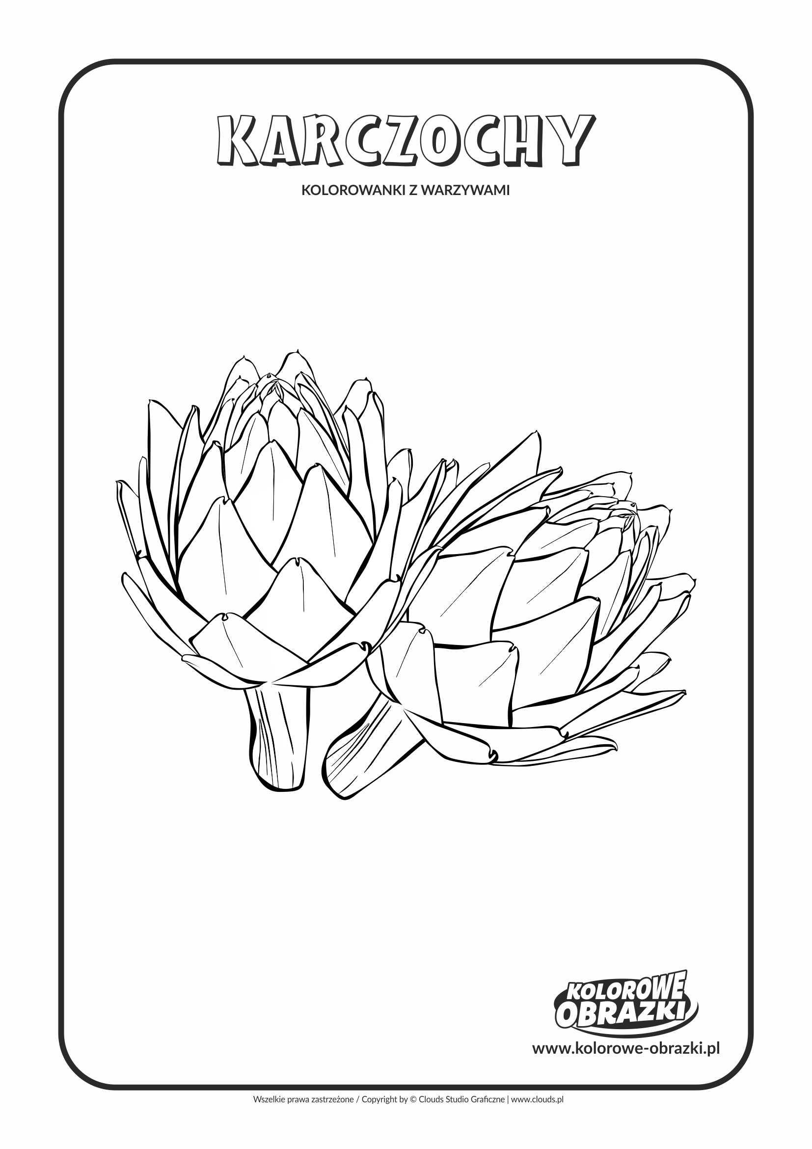 Kolorowanki dla dzieci - Rośliny / Karczochy. Kolorowanka z karczochami