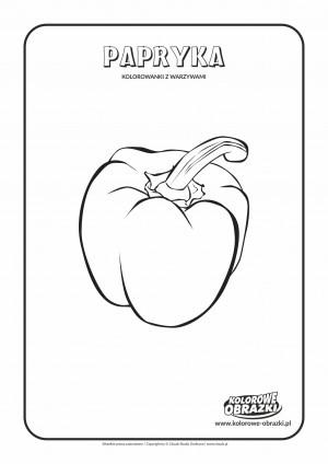 Kolorowanki dla dzieci - Rośliny / Papryka. Kolorowanka z papryką