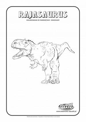 Kolorowanki dla dzieci - Zwierzęta / Rajasaurus. Kolorowanka z Rajasaurusem