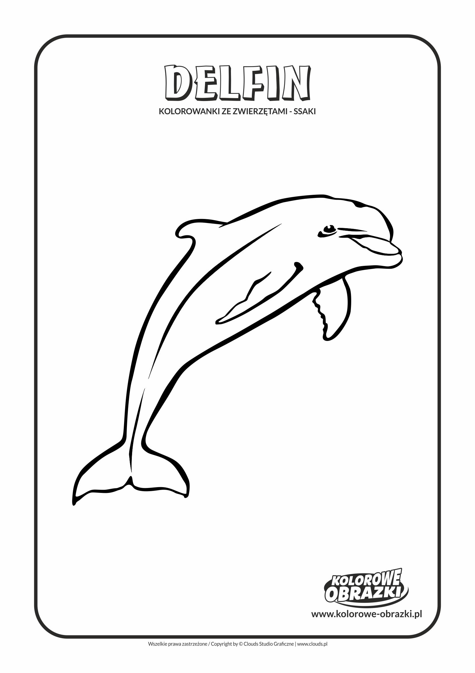 Kolorowanki dla dzieci - Zwierzęta / Delfin