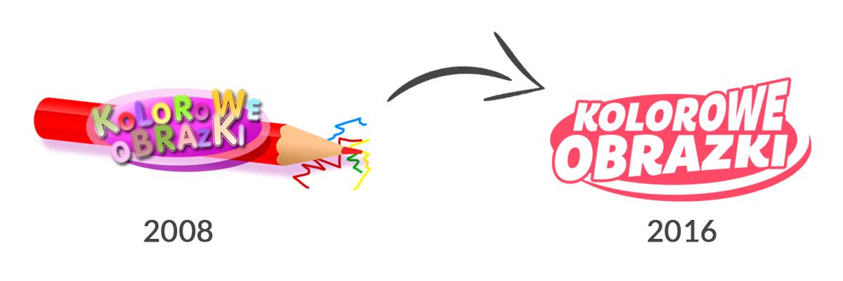 Redesign, rewitalizacja, nowe logo www.kolorowe-obrazki.pl