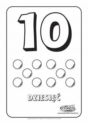 Kolorowanki dla dzieci - Cyfry / Cyfra 10. Kolorowanka z cyfrą 10