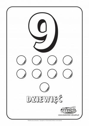 Kolorowanki dla dzieci - Cyfry / Cyfra 9. Kolorowanka z cyfrą 9