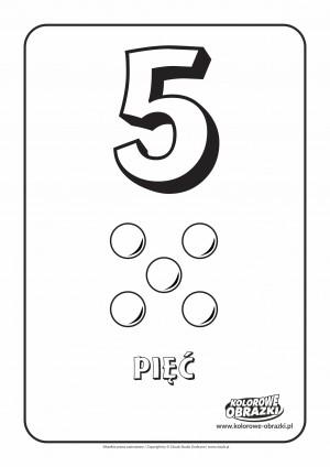 Kolorowanki dla dzieci - Cyfry / Cyfra 5. Kolorowanka z cyfrą 5