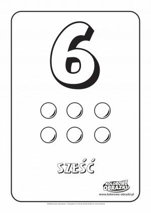 Kolorowanki dla dzieci - Cyfry / Cyfra 6. Kolorowanka z cyfrą 6