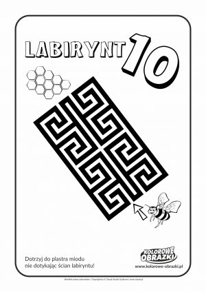 Kolorowanki dla dzieci - Labirynty / Labirynt nr 10