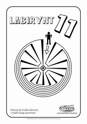 Kolorowanki dla dzieci - Labirynty / Labirynt nr 11