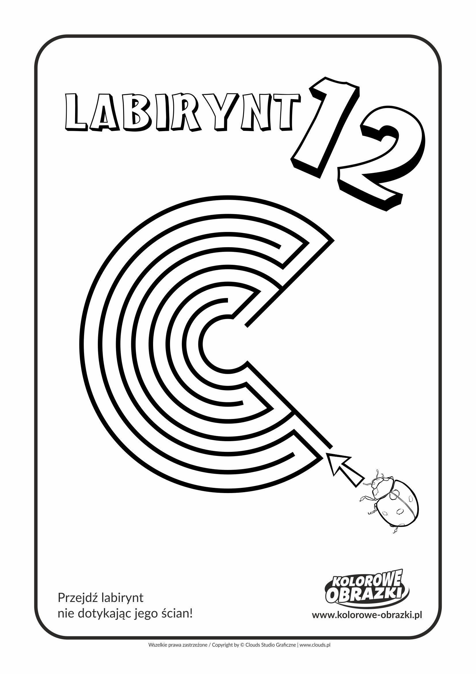 Kolorowanki dla dzieci - Labirynty / Labirynt nr 12