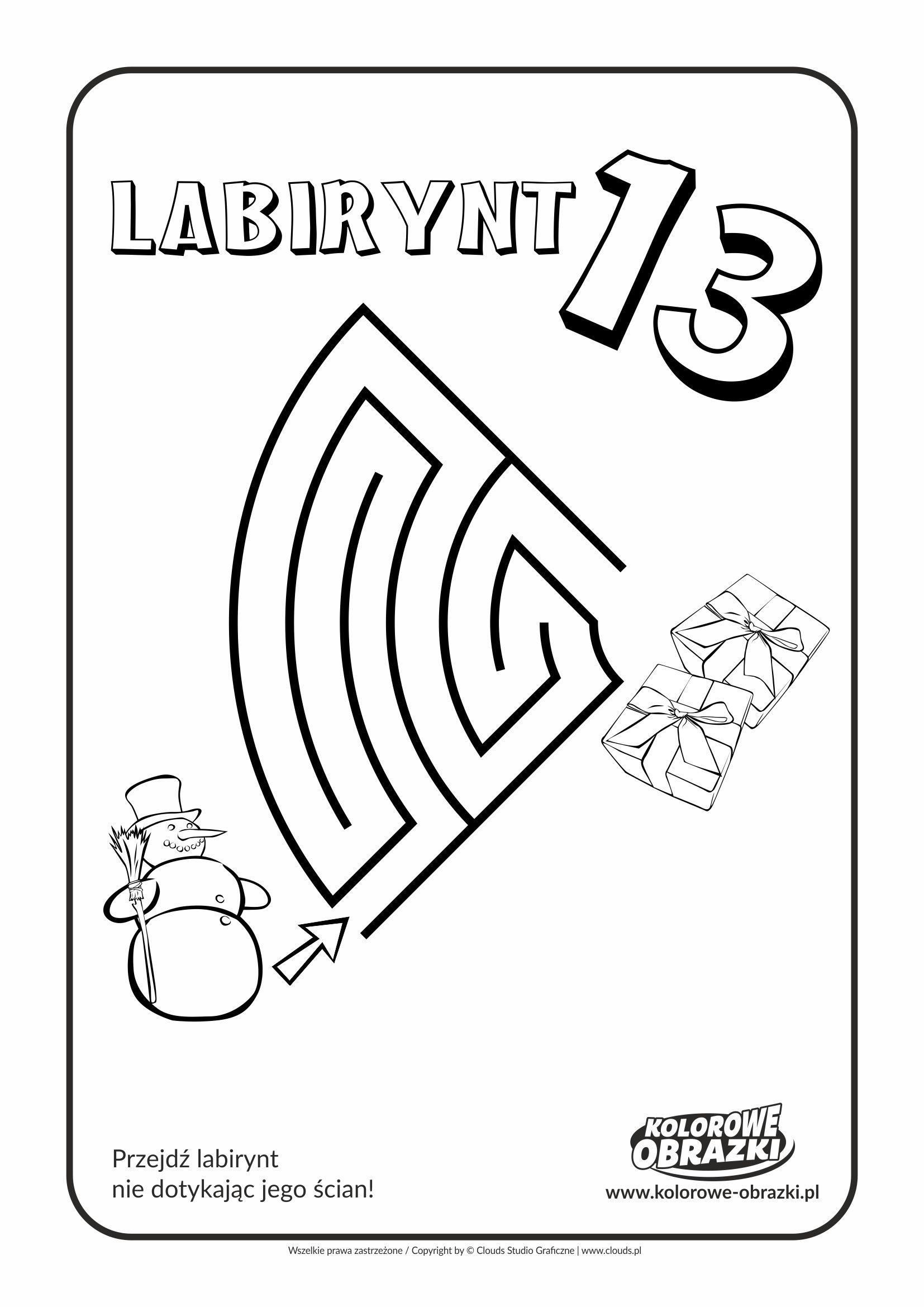 Kolorowanki dla dzieci - Labirynty / Labirynt nr 13