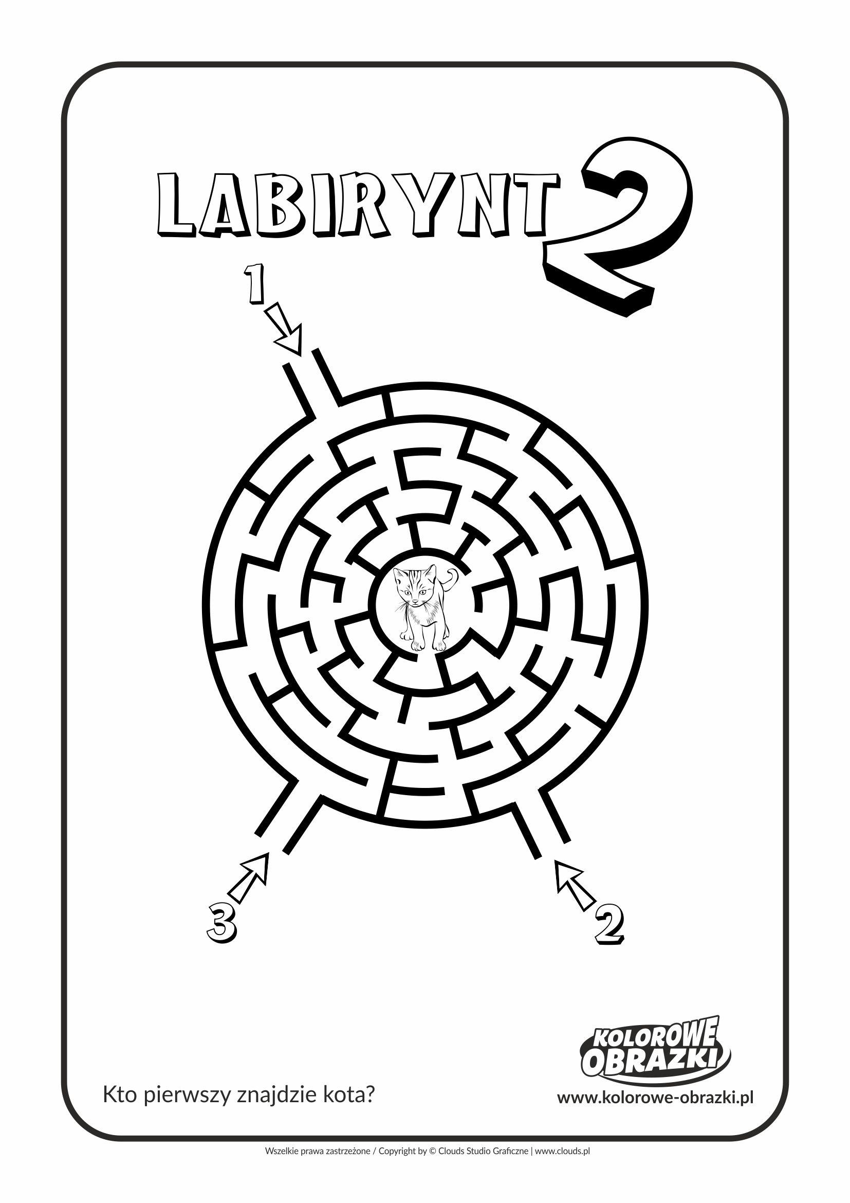 Kolorowanki dla dzieci - Labirynty / Labirynt nr 2