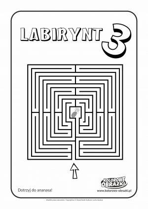 Kolorowanki dla dzieci - Labirynty / Labirynt nr 3