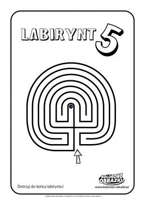 Kolorowanki dla dzieci - Labirynty / Labirynt nr 5