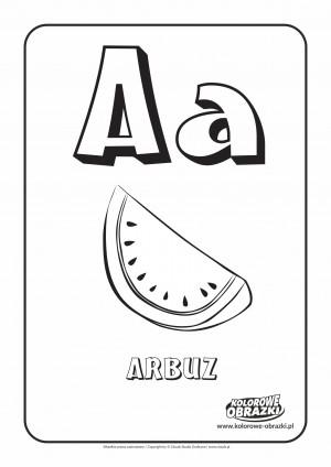 Kolorowanki dla dzieci - Litery / Litera A. Kolorowanka z literą A