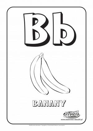 Kolorowanki dla dzieci - Litery / Litera B. Kolorowanka z literą B