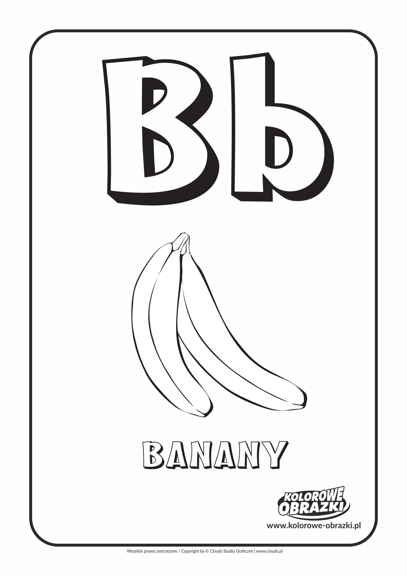 Litera B Kolorowanki Alfabet Kolorowanki Dla Dzieci