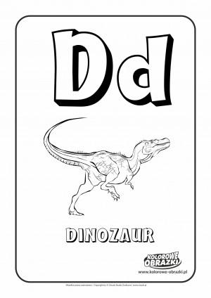 Kolorowanki dla dzieci - Litery / Litera D. Kolorowanka z literą D