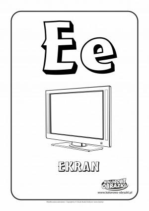 Kolorowanki dla dzieci - Litery / Litera E. Kolorowanka z literą E